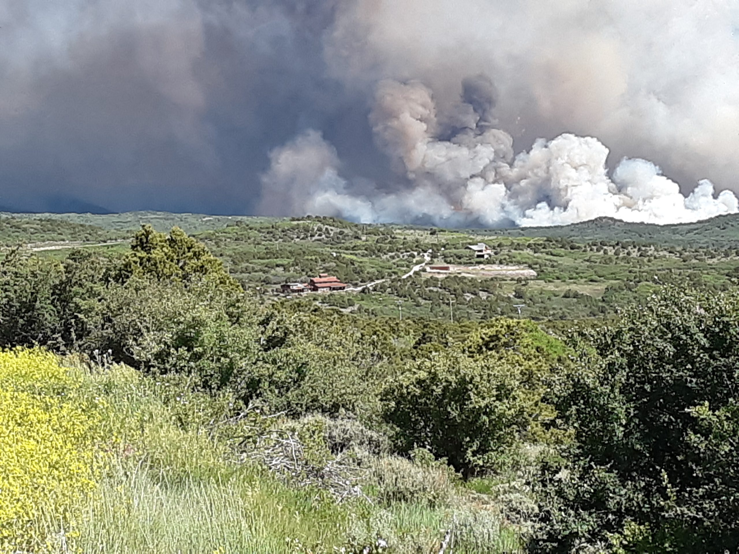Ridge on fire.