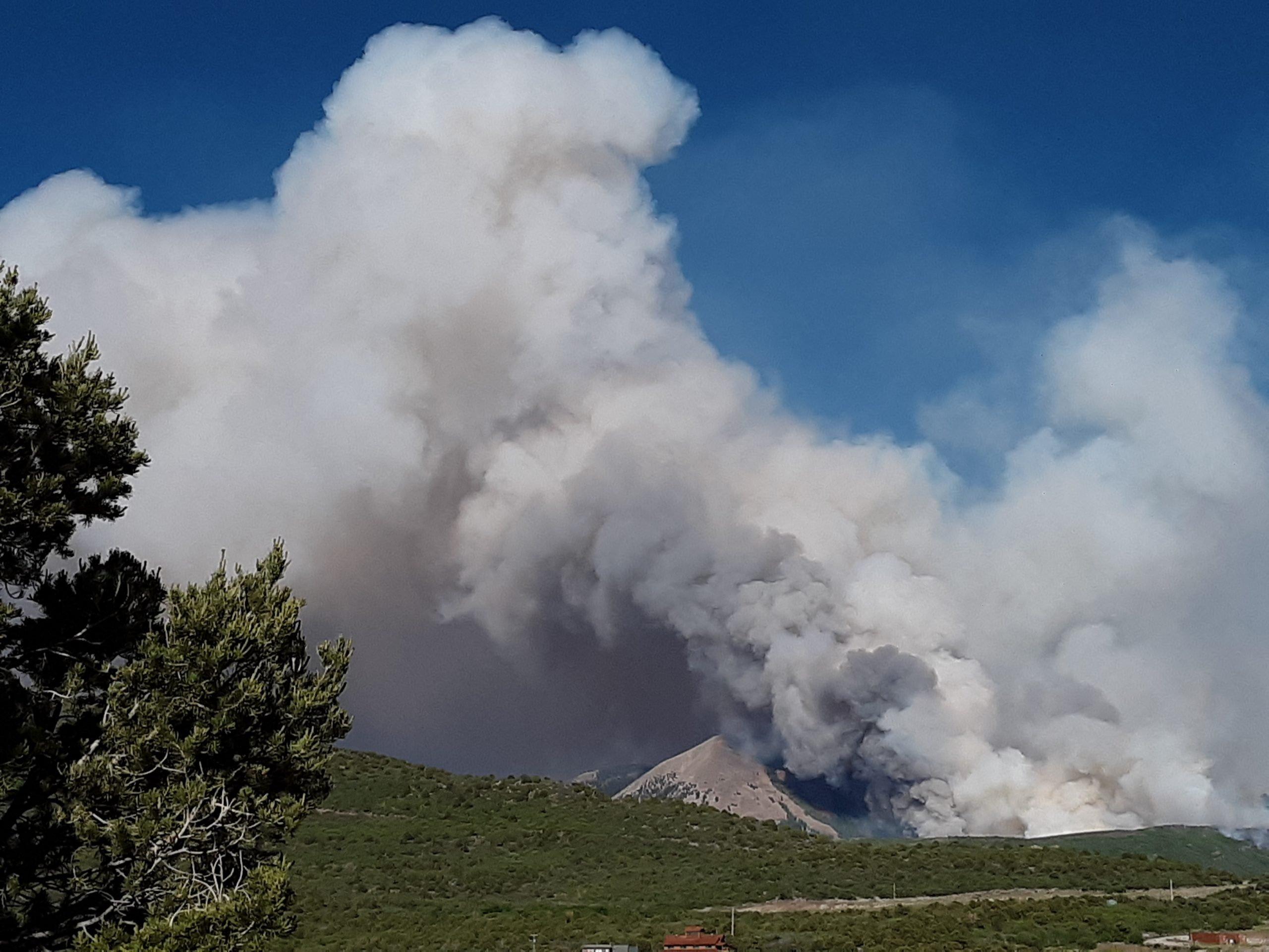 Mountain burning.